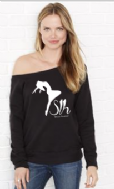 Off Shoulder Fleece Jumper